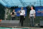 slavnostní zahájení - zleva moderátor akce Michal Tůma, ředitel pivovaru Petr Hostaš a hejtman Libereckého kraje Petr Skokan
