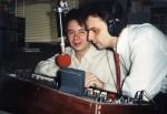 Michal Tůma a Honza Žíla v rádiu EURO K Liberec někdy v 90. letech